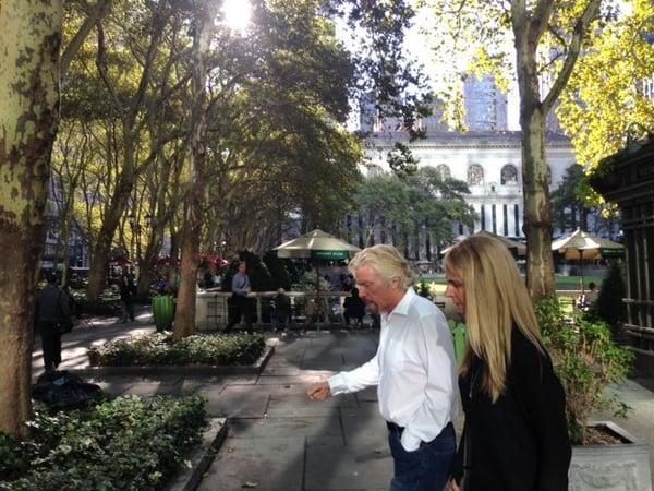 Sir Richard Branson outdoors